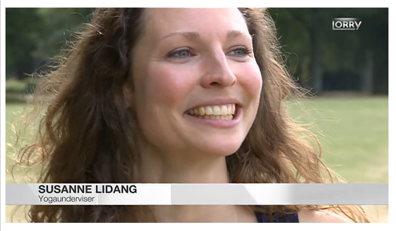 Susanne Lidang i TV 2 lorry